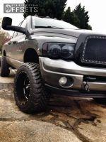 """2003 Dodge Ram 3500 - 20x12 -44mm - Moto Metal MO962 - Leveling Kit - 33"""" x 12.5"""""""