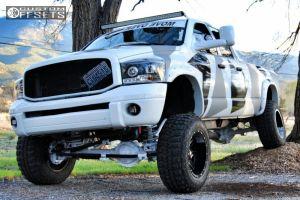 "2008 Dodge Ram 2500 - 20x12 -44mm - Ballistic Rage - Lifted >9"" - 37"" x 12.5"""
