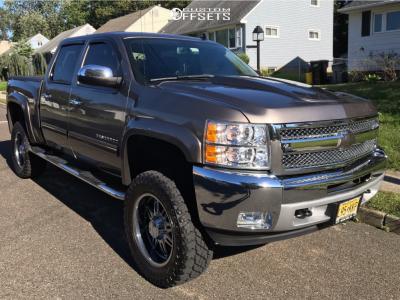 "2015 Chevrolet Silverado 1500 - 20x9 0mm - American Eagle Series 027 - Suspension Lift 6"" - 35"" x 12.5"""