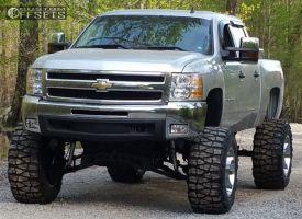 """2013 Chevrolet Silverado 1500 - 20x14 -76mm - Fuel Maverick D536 - Lifted >9"""" - 38"""" x 15.5"""""""