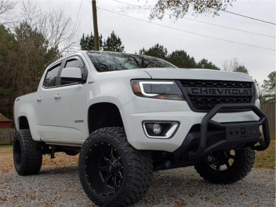 "2018 Chevrolet Colorado - 20x12 -44mm - Moto Metal Mo970 - Suspension Lift 6"" - 305/55R20"