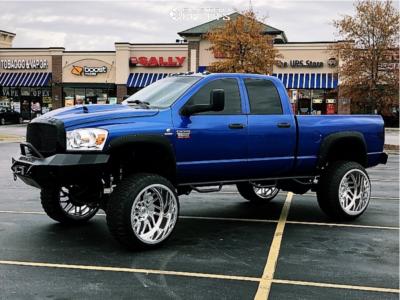 "2008 Dodge Ram 2500 - 26x16 -101mm - Tis Forged F51p1 - Suspension Lift 8"" - 37"" x 13.5"""