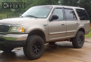 """2002 Ford Expedition - 17x9 -12mm - Helo HE878 - Suspension Lift 3"""" - 35"""" x 11.5"""""""