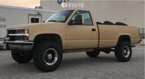 """1999 Chevrolet K2500 - 16x10 -38mm - Alloy Ion Style 171 - Suspension Lift 2.5"""" - 285/75R16"""