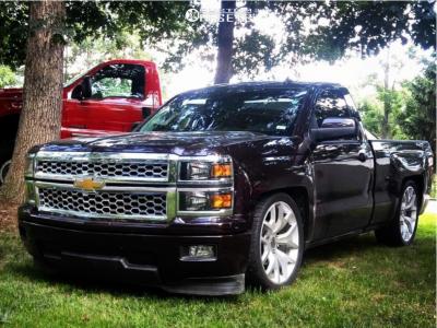2014 Chevrolet Silverado 1500 - 22x9 28mm - OE Performance 169 - Lowered 6 F / 8 R - 285/35R22