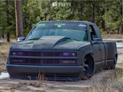 1988 Chevrolet C2500 - 22x12 -44mm - Hostile Hammered - Air Suspension - 305/35R22