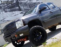 "2010 Chevrolet Silverado 1500 - 20x12 -44mm - Fuel Octane - Suspension Lift 6"" - 33"" x 12.5"""