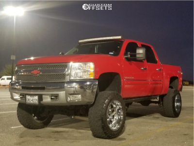 "2012 Chevrolet Silverado 1500 - 20x12 -44mm - XD Xd828 - Suspension Lift 9"" - 35"" x 12.5"""