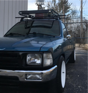 1994 Toyota Pickup - 15x8 -19.05mm - Trail Master D Window Steelie - Lowered 2F / 4R - 195/60R15
