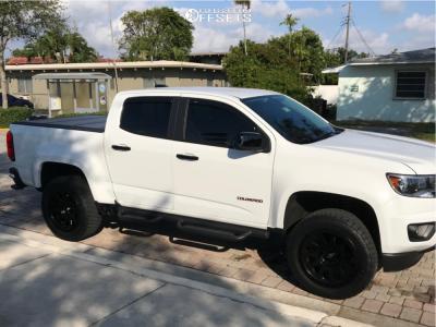 """2018 Chevrolet Colorado - 20x9 7mm - Fuel Vector - Suspension Lift 2.5"""" - 275/55R20"""