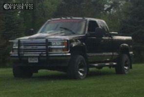 "1997 Chevrolet K1500 - 15x8 -21mm - Dick Cepek Dc-2 - Body Lift 3"" - 33"" x 12.5"""