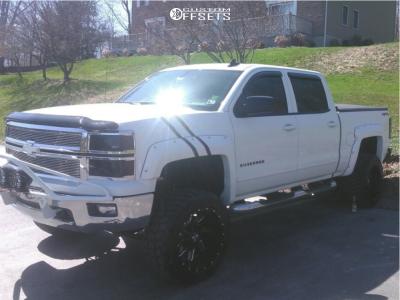 "2015 Chevrolet Silverado 1500 - 20x12 -44mm - Cali Offroad Twisted - Suspension Lift 6"" - 33"" x 12.5"""