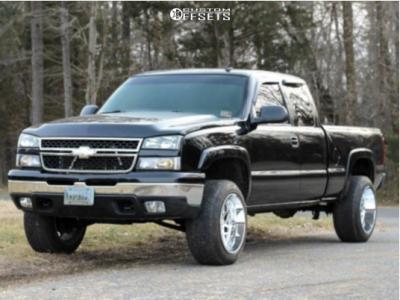 "2006 Chevrolet Silverado 1500 - 20x12 -44mm - Hostile Sprocket - Suspension Lift 3"" - 305/50R20"