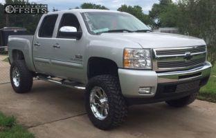 "2010 Chevrolet Silverado 1500 - 20x12 -44mm - Xd Armour - Suspension Lift 6"" - 35"" x 12.5"""