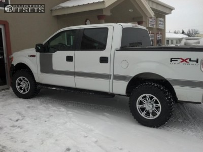 """2009 Ford F-150 - 17x12.5 1mm - American Eagle Billet offroad - Suspension Lift 3"""" - 35"""" x 12.5"""""""