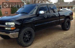 "2000 Chevrolet Silverado 1500 - 20x9 20mm - Fuel Octane - Leveling Kit - 35"" x 12.5"""