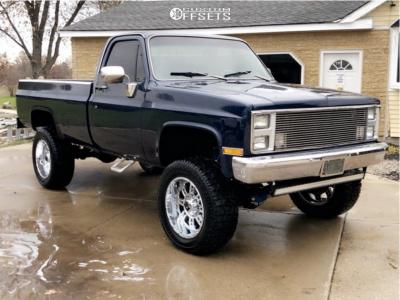 "1984 Chevrolet K20 - 20x12 -44mm - XD Riot - Suspension Lift 4"" - 35"" x 12.5"""