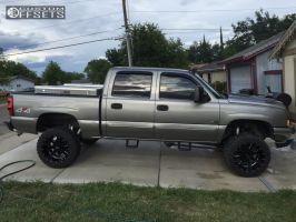 "2006 Chevrolet Silverado 1500 - 20x12 -44mm - Moto Metal MO962 - Suspension Lift 6"" - 33"" x 12.5"""
