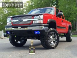 "2004 Chevrolet Silverado 1500 - 20x10 -24mm - XD  Rockstar - Suspension Lift 6"" - 35"" x 12.5"""