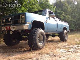 "1984 Chevrolet K10 - 15x12 -12mm - Mickey Thompson Bullet Hole - Lifted >9"" - 38"" x 16.5"""