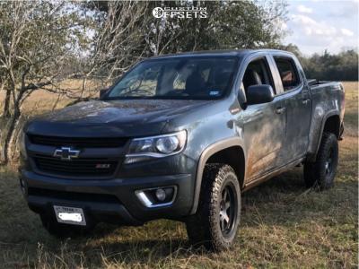 2017 Chevrolet Colorado - 18x9 -6mm - Mayhem Prodigy - Leveling Kit - 275/65R18