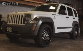 2011 Jeep Liberty - 20x10 25mm - 2crave N22 - Stock Suspension - 255/45R20