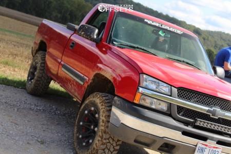 """2004 Chevrolet Silverado 1500 - 18x9 0mm - Ballistic Jester - Suspension Lift 2.5"""" - 275/70R18"""
