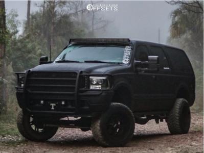 "2000 Ford Excursion - 20x12 -44mm - Moto Metal Mo969 - Suspension Lift 6"" - 35"" x 12.5"""