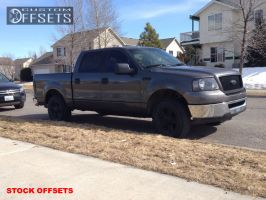 2006 Ford F-150 - 17x7.5 40mm - Stock Stock - Leveling Kit - 265/65R17