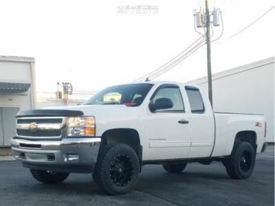 "2013 Chevrolet Silverado 1500 - 18x9 -12mm - Dropstars 645b - Suspension Lift 3.5"" - 285/65R18"