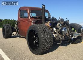 1939 Ford Classic Pickup - 22x14 -76mm - Hostile Knuckles - Air Suspension - 355/40R22