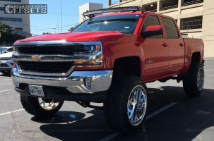 "2016 Chevrolet Silverado 1500 - 24x14 -73mm - American Force SHIELD SS - Suspension Lift 9"" - 37"" x 13.5"""