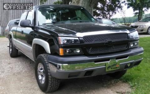 2004 Chevrolet Silverado 1500 - 16x9 0mm - American Racing Slider - Leveling Kit - 265/75R16