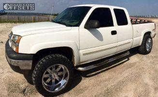 "2003 Chevrolet Silverado 1500 - 20x12 -44mm - Moto Metal MO962 - Suspension Lift 3"" - 33"" x 12.5"""