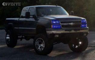 "2006 Chevrolet Silverado 1500 - 20x14 -76mm - Hostile Switch Blade - Lifted >9"" - 38"" x 13.5"""