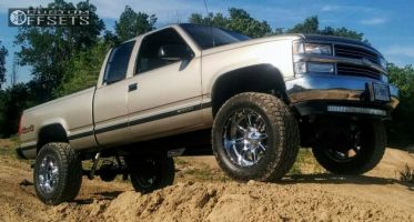 "1998 Chevrolet K1500 - 20x10 -24mm - Fuel Maverick - Suspension Lift 6"" - 35"" x 12.5"""