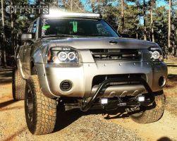 "2002 Nissan Frontier - 16x9 -12mm - Moto Metal Mo951 - Body Lift 3"" - 285/75R16"