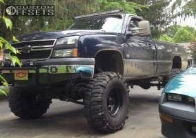 "2006 Chevrolet Silverado 1500 - 16x10 -38mm - Black Rock 997 - Lifted >9"" - 37"" x 13.5"""