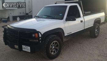 1997 Chevrolet C2500 - 16x8 -6mm - American Outlaw Buckshot - Stock Suspension - 265/75R16
