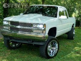 """1994 Chevrolet K1500 - 22x12 -44mm - Gear Off-Road Big Block - Suspension Lift 6"""" - 33"""" x 12.5"""""""