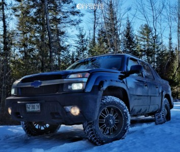 """2002 Chevrolet Avalanche 1500 - 20x9 0mm - Mkw Offroad M80 - Leveling Kit - 33"""" x 12.5"""""""