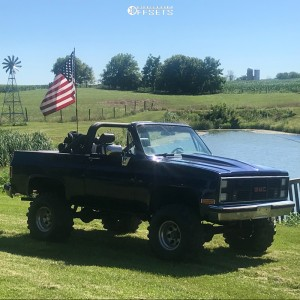 """1987 GMC Jimmy - 15x10 -38mm - Alloy Ion Style 171 - Suspension Lift 4"""" - 35"""" x 15.5"""""""