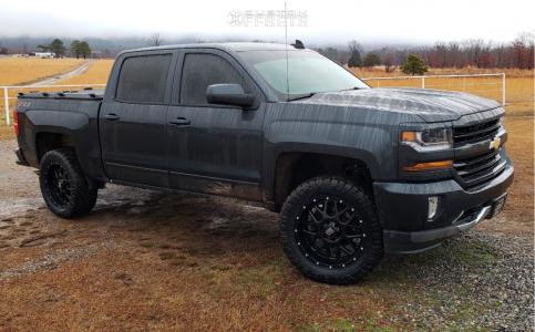 2018 Chevrolet Silverado 1500 - 20x9 0mm - XD Xd820 - Leveling Kit - 295/55R20