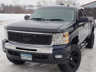 "2008 Chevrolet Silverado 1500 - 20x10 -25mm - Toxic Avenger - Suspension Lift 3.5"" - 305/55R20"