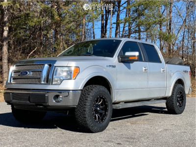 2011 Ford F-150 - 18x9 1mm - Fuel Vandal - Leveling Kit - 295/70R18