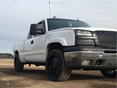 2005 Chevrolet Silverado 1500 - 20x10 -25mm - RBP 71r - Stock Suspension - 275/55R20