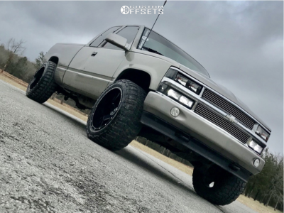 "1998 Chevrolet K1500 - 20x12 -44mm - Alloy Ion Style 141 - Level 2"" Drop Rear - 33"" x 12.5"""