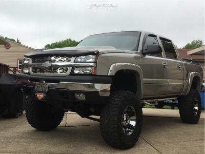 "2005 Chevrolet Silverado 1500 - 18x10 -24mm - Xd Rockstar Ii - Lifted >12"" - 37"" x 13.5"""