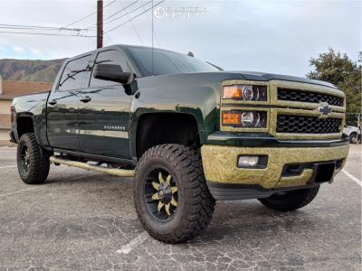 "2014 Chevrolet Silverado 1500 - 18x9 -12mm - Fuel Octane - Suspension Lift 6"" - 35"" x 12.5"""