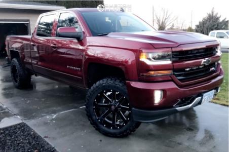 "2016 Chevrolet Silverado 1500 - 20x10 -19mm - Ballistic Rage - Suspension Lift 4"" - 285/60R20"
